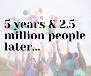 Celebrating 5 years on social media!