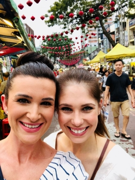 Ashlie and Katie treat themselves to a trip down Jalan Alor