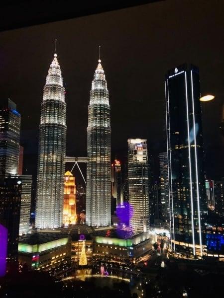 The spectacular Petronas Towers in Kuala Lumpur